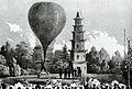 Isler'sche Mineralwasser-Anstalt St. Petersburg Ballonaufstieg 1852.jpg