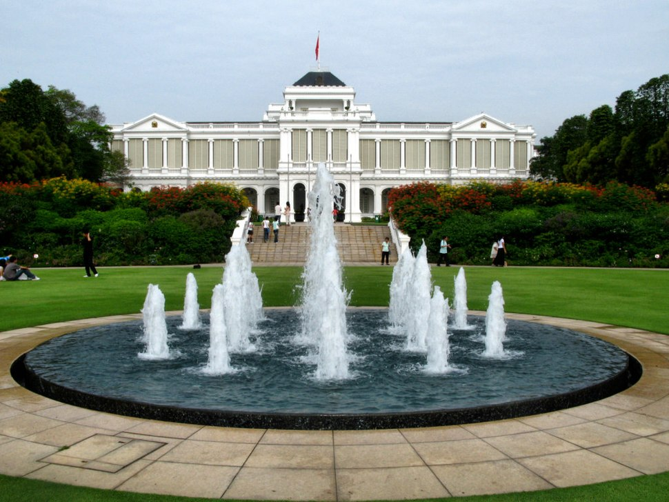 Istana Singapore and fountain - 20090127