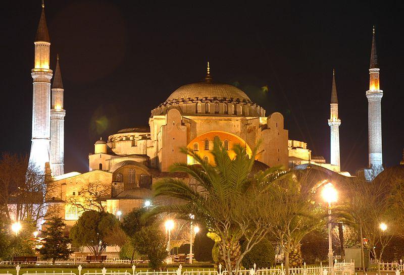 File:Istanbul - Santa Sofia de nit.JPG