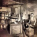It's -Friday, end of another week at work in the Capitol. AOC blacksmith works in Capitol 1905- (8979034539).jpg