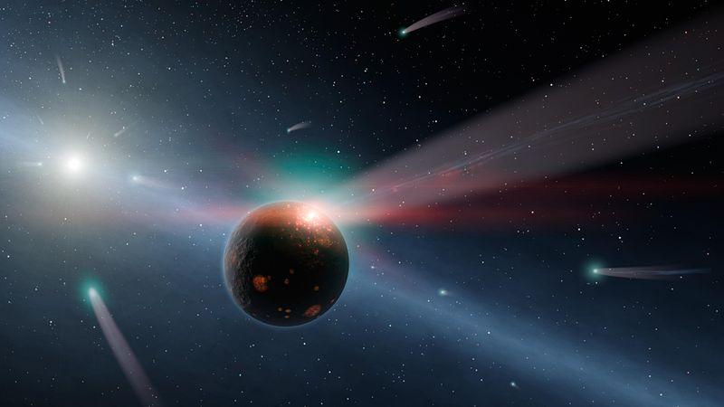 Haven bildades av vatten som fördes till jorden från kometer. Detta inträffade troligen 600-800 miljoner år efter att solsystemet fötts, under det som kallas det Stora Tunga Bombardemanget.