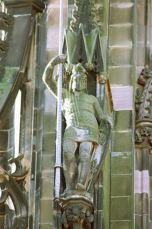 Ivanhoe - Ivanhoe on the Scott Monument, Edinburgh (sculpted by John Rhind)