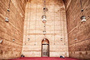 Mosque-Madrassa of Sultan Hassan - Iwan in the Mosque-Madrasa of Sultan Hassan in Cairo, Egypt.