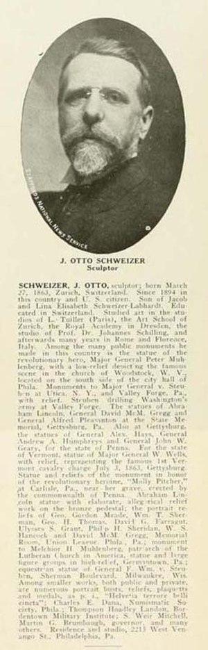 J. Otto Schweizer - J. Otto Schweizer, Who's Who in Philadelphia, 1920.