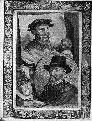 The Lives of Dutch painters and paintresses - Image: JC Weyerman VI Plate B Dirck and Wouter Crabeth