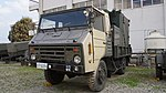 JGSDF Type 73 chugata truck(07-5229) with shelter of JMMQ-M4 Aeronautical Meteorological Observation unit left front view at Camp Akeno November 4, 2017 02.jpg