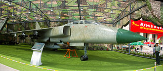 "Xi'an JH-7 - JH-7A at the Beijing Military Museum during the ""Our troops towards the sky"" exhibition"