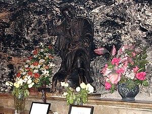 Elijah - A statue of Elijah in the Cave of Elijah, Mount Carmel, Israel.