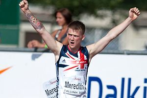 Jack Meredith (athlete) - Meredith at the 2011 European Athletics Junior Championships in Tallinn