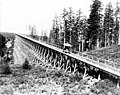 Jackson Street trestle showing cable car of the Seattle Construction Co, ca 1889 (SEATTLE 1614).jpg