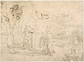 Jacob Receiving Joseph's Blood-Stained Cloak (recto); Study of a Bearded Man and The Sacrifice of Isaac (verso) MET DP800476.jpg