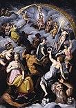 Pertemuan Para Dewa, oleh Jacopo Zucchi .