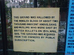 Jallianwala Bagh - Sign at Jallianwala Bagh