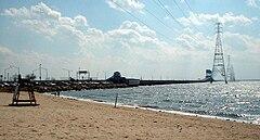 James River Bridge Viewed From Huntington Park Beach Newport News Has An Elaborate