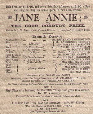Jane Annie - From programme, 1893