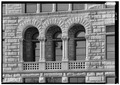 January 1975 DETAIL OF ARCHED BALCONY - Wayne County Courthouse, Courthouse Square, Richmond, Wayne County, IN HABS IND,89-RICH,3-9.tif