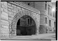 January 1975 VIEW OF ARCH FROM NORTHWEST - Wayne County Courthouse, Courthouse Square, Richmond, Wayne County, IN HABS IND,89-RICH,3-12.tif