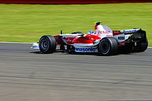 Photo de la Toyota TF107 de Jarno Trulli