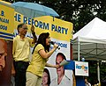 Jeanette Chong-Aruldoss at a Reform Party rally, Speakers' Corner, Singapore - 20110115.jpg