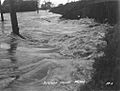 Jefferson Highway in Melville Louisiana during the flood of 1927.jpg