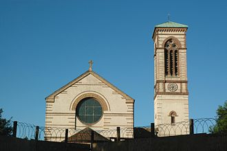 St Barnabas Church, Oxford - View of St Barnabas Church and its campanile.