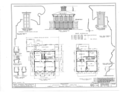 Jesse Fell House, 502 Irving (moved from Broadway and Irving Streets), Normal, McLean County, IL HABS ILL,57-NORM,1- (sheet 1 of 2).png