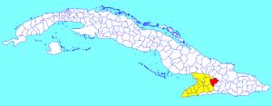 Jiguaní - Image: Jiguaní (Cuban municipal map)