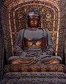 Jin Dynasty statue of Amoghasiddhi (不空成就佛 Bùkōngchéngjiùfó), one of the Five Tathagathas (五方佛 Wǔfāngfó) or Five Wisdom Buddhas (五智如来 Wǔzhì Rúlái) at Shanhua Temple (善化寺) in Datong, Shanxi, China.jpg