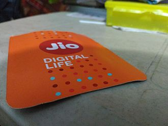 Jio - Jio sim card pouch as distributed by Reliance Jio Infocomm