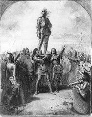 Anno 1328. Graaf Willem de Goede wordt als heer van Friesland gehuldigd