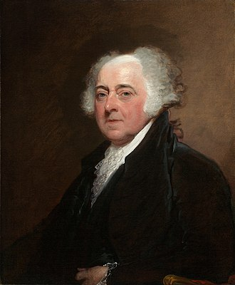 John Adams admired Machiavelli's rational description of the realities of statecraft. Adams used Machiavelli's works to argue for mixed government. John Adams, Gilbert Stuart, c1800 1815.jpg