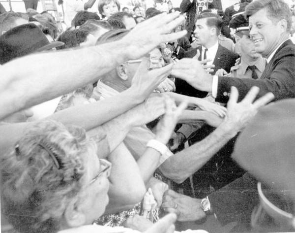 John F. Kennedy shaking hands in Miami, Florida (10998767613)