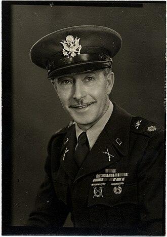 Marymount Military Academy - John Gress, Marymount Military Academy Commandant, 1950's. From personal collection, Scott Gress.