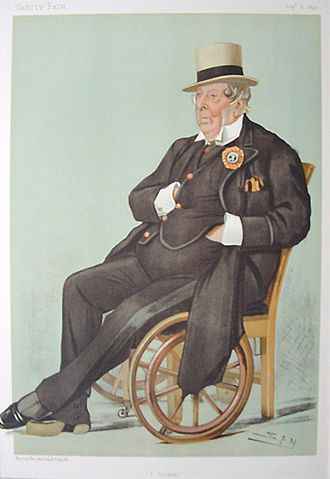 I Zingari - Caricature of John Loraine Baldwin, one of the founding members of I Zingari