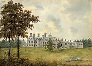 Coombe Abbey - Coombe Abbey in 1797, painted by Maria Johnson.