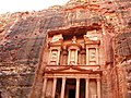 Jordan, Petra, Khaznat el- Faroun or Pharaoh's Treasury (The most remarkable monument in Petra) (detail).jpg