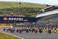 Jorge Lorenzo leads the pack 2015 Jerez 2.jpeg