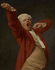 Self-Portrait, Yawning