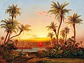 Joseph Firmenich - A Southern Landscape with Palms in the Evening Light.jpg