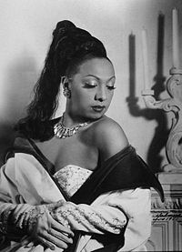 Жозефіна Бейкер у Гавані (Куба) 1950 року