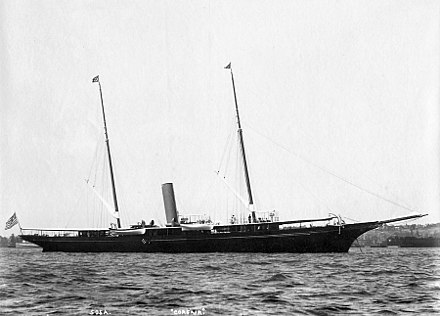 Corsair as it appeared about 1893.