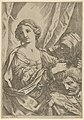 Judith grasping the head of Holofernes by the hair and looking to the left, an old woman at right MET DP837925.jpg