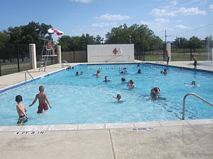 Junction, Texas - Municipal swimming pool in Junction