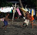 Junior AFL players practice their skills at a training session at Lord Howe settlement, Honiara. (10706134755).jpg