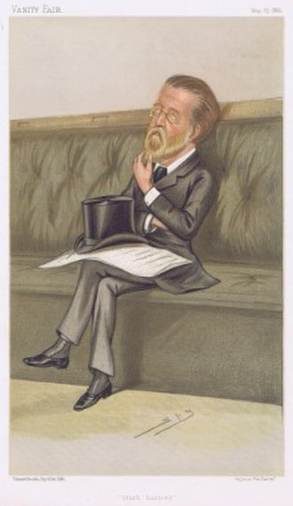 Justin McCarthy (1830–1912) - McCarthy caricatured by Spy in Vanity Fair, 1885