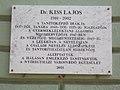 Kölcsey Gimnázium, Dr. Kiss Lajos emléktábla, 2017 Nyíregyháza.jpg