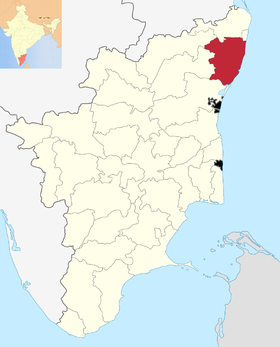 Localisation de District de Kanchipuram