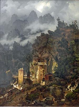 Karl Eduard Biermann - Finstermünz Pass in the Tyrol, 1830
