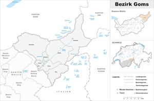 Goms District - Image: Karte Bezirk Goms 2017
