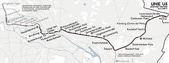 U5 (Berlin U-Bahn) - Image: Karte berlin u u 5